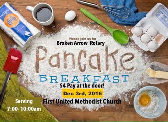 Rotary Pancake Breakfast Dec 3rd