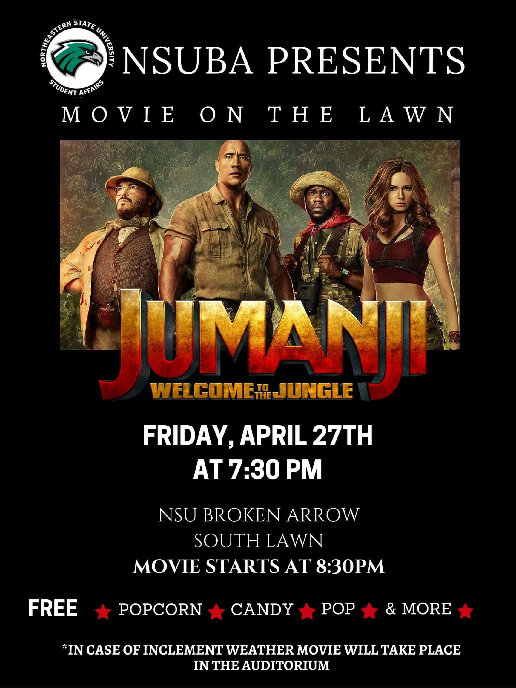 Movie on the Lawn: Jumanji – April 27