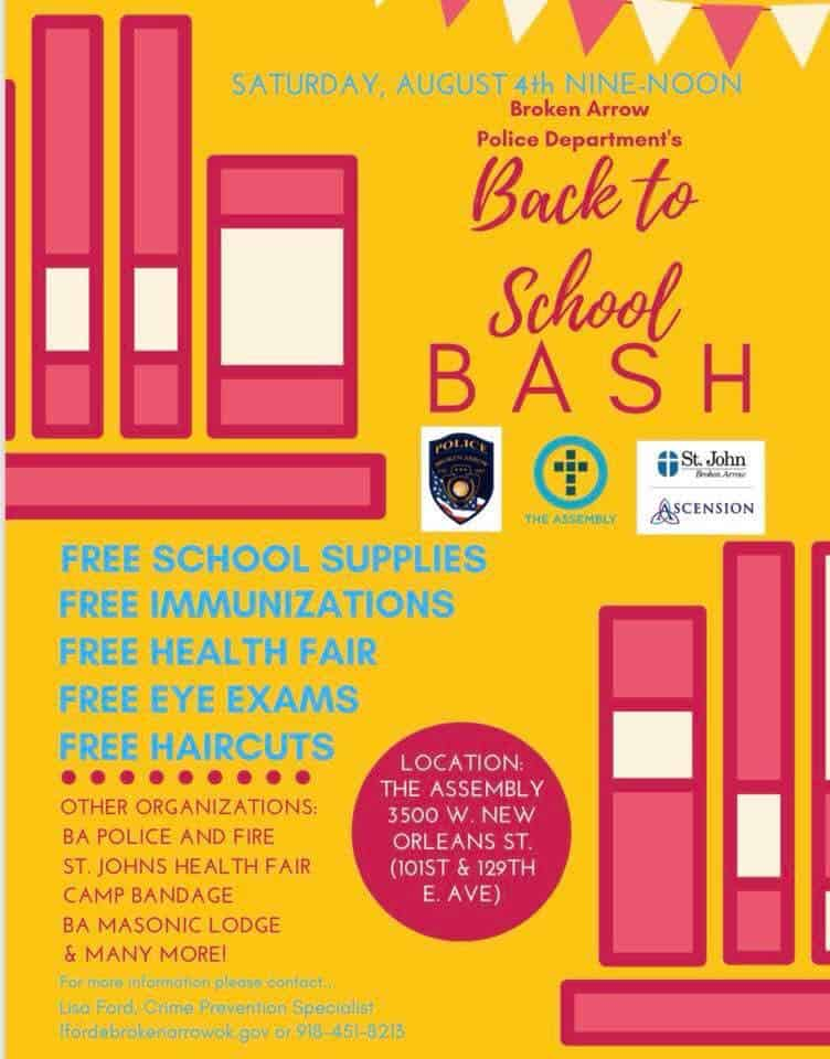 BAPD's Back to School Bash and Health Fair August 4th