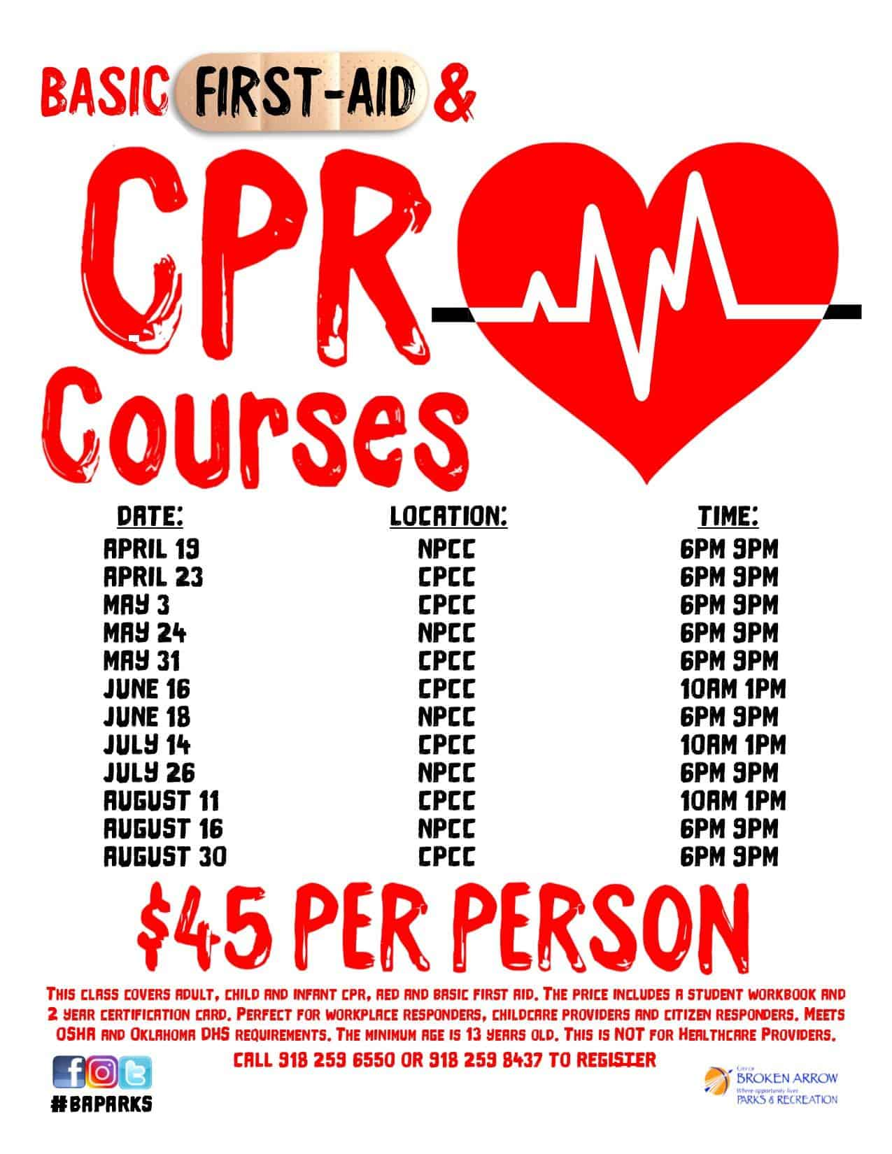 Need To Be Certified For Cpr Ba Buzz Broken Arrow Events