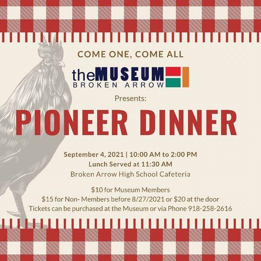 Pioneer Dinner Sept 4th